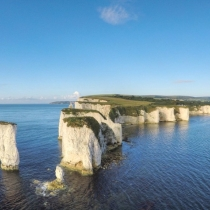 'Chalk rock legends guard the entrance to Poole Harbour'