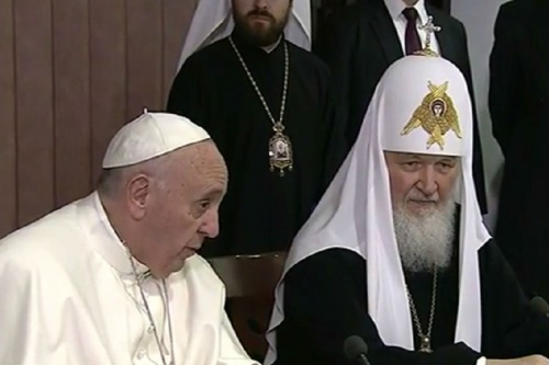 Pope Francis and Bishop Kirill