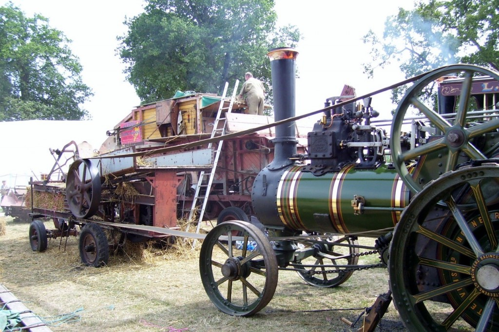 Threshing machine 1